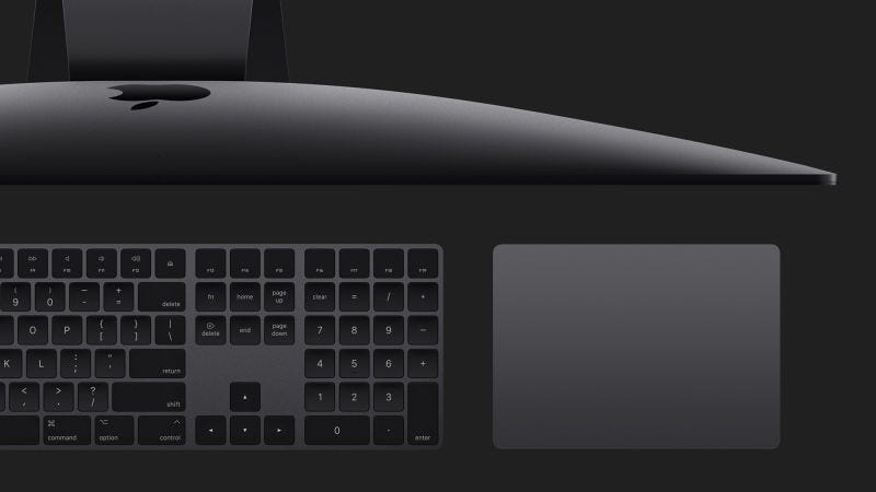 Illustration for article titled Apple Finally Starts Selling the iMac Pro's Sweet Space Gray Keyboard and Mouse