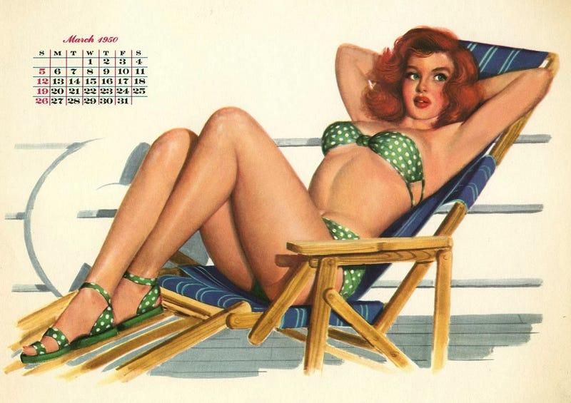 Calendario de Al Moore para la revista Esquire en 1950. Si lo encontraras, podrías volver a utilizarlo en 2017