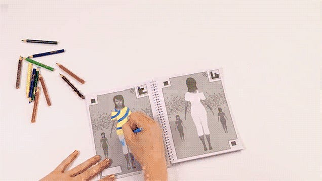 A coloring book that puts kid designed fashions on a Crayola fashion design studio reviews