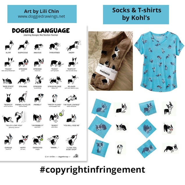 Indie Artist Lili Chin Is SuingKohl s for Allegedly Ripping Off Her  Doggie Language  Designs