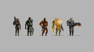 Illustration for article titled Halo, BioShock, Dead Space as 16-bit Heroes