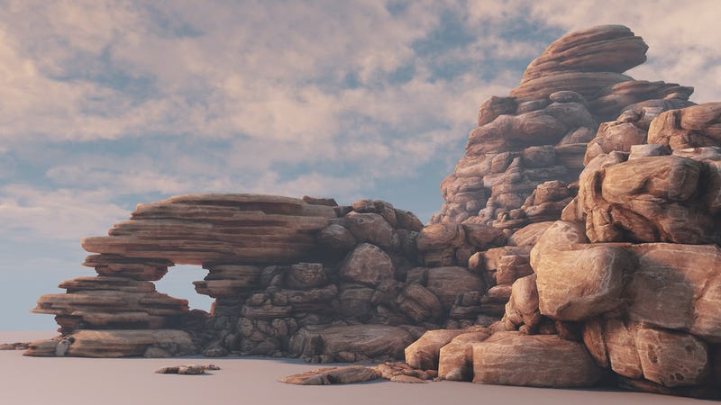 Illustration for article titled These Virtual Rocks Look Damn Good