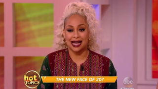 Actress Raven-Symoné telling The View's audience why she believes abolitionist icon Harriet Tubman shouldn't be on the $20 bill.ABC's The ViewScreenshot