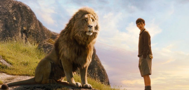 Aslan will return for the fourth Chronicles of Narnia movie, but not the kids. Image: Disney
