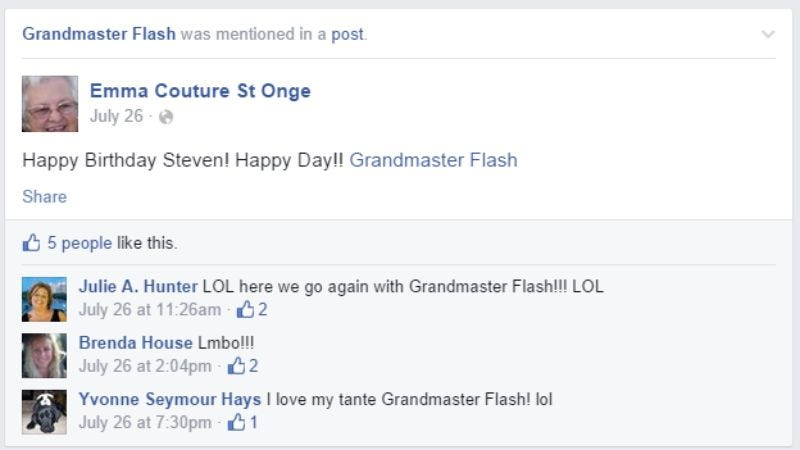 Illustration for article titled Here's why your grandma keeps tagging Grandmaster Flash on Facebook