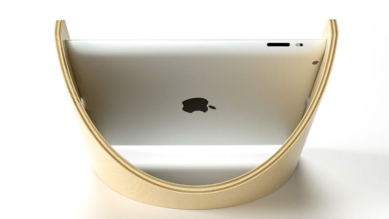 Illustration for article titled The Sne Stand Cradles Your iPad In Its Graceful Curve