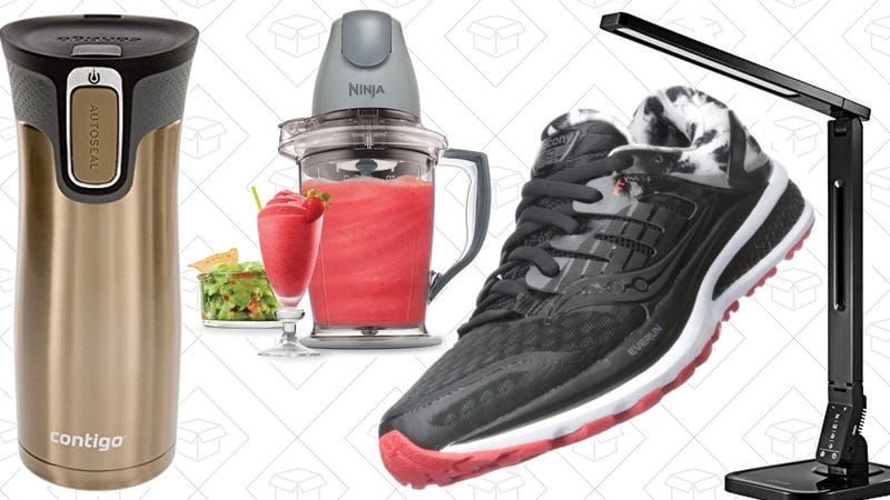 Illustration for article titled Today's Best Deals: Running Shoes, Desk Lamps, Travel Mugs, and More