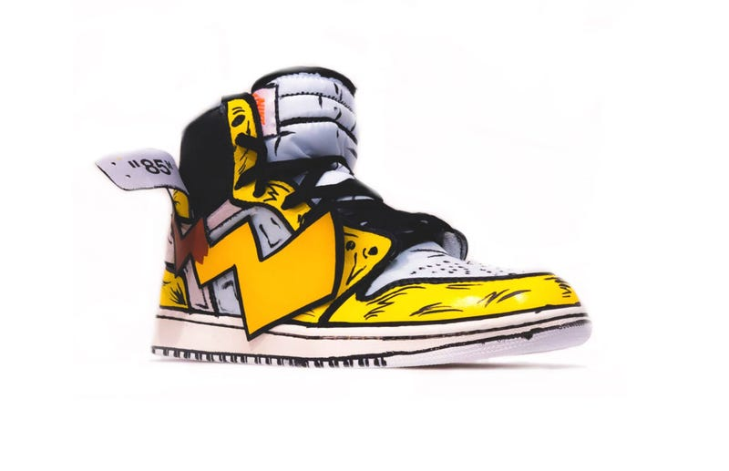 buy online 2aa9b 7f89c Illustration for article titled Look At These Pikachu Air Jordans
