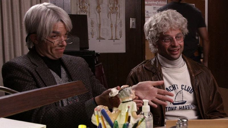 """Illustration for article titled Watch """"Oh, Hello"""" stars Gil Faizon and George St. Geegland drop in at 92Y"""