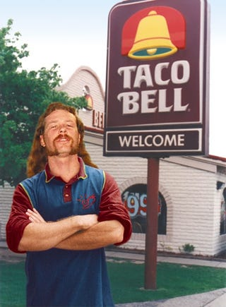 Illustration for article titled Alternate-Universe James Hetfield Named Taco Bell Employee Of The Month