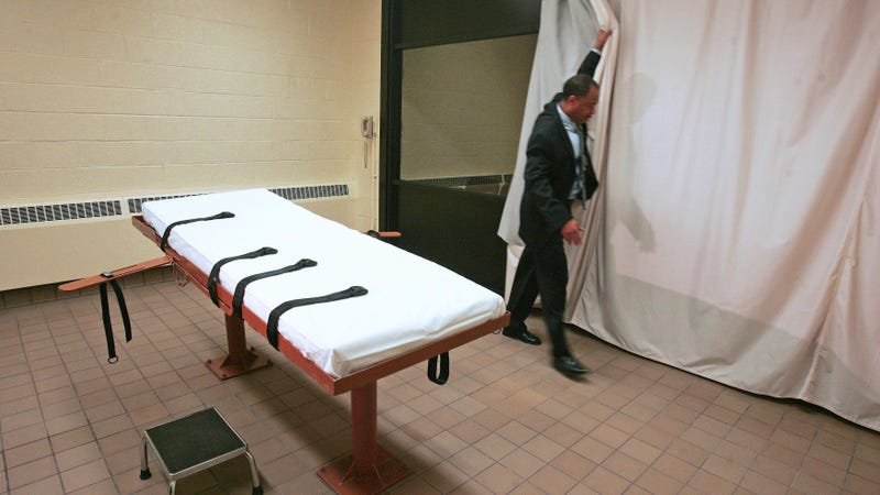 A death chamber at the prison in Lucasville, Ohio.
