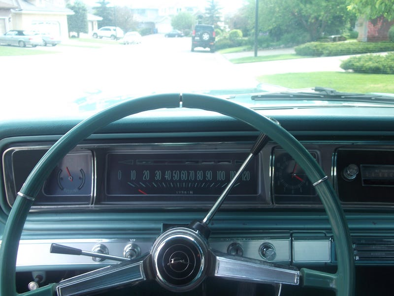 Illustration for article titled The future is 1966! Cockpit photo of my old '66 Impala