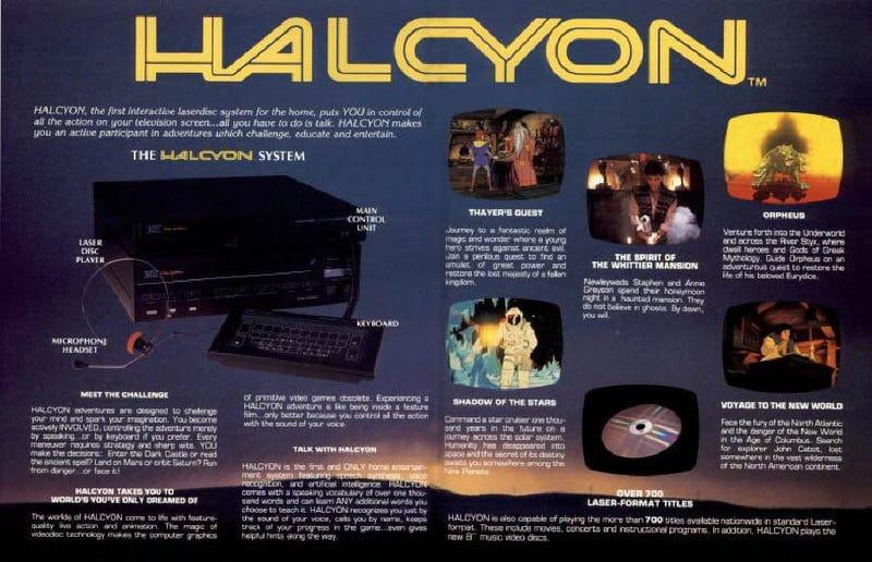 Illustration for article titled Halcyon, la revolucionaria consola de videojuegos con control de voz de los 80 que murió antes de nacer