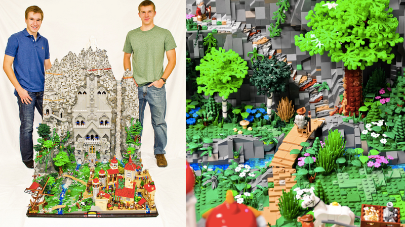 Illustration for article titled This 80,000-brick Lego kingdom from 'The Hobbit' will blow your mind
