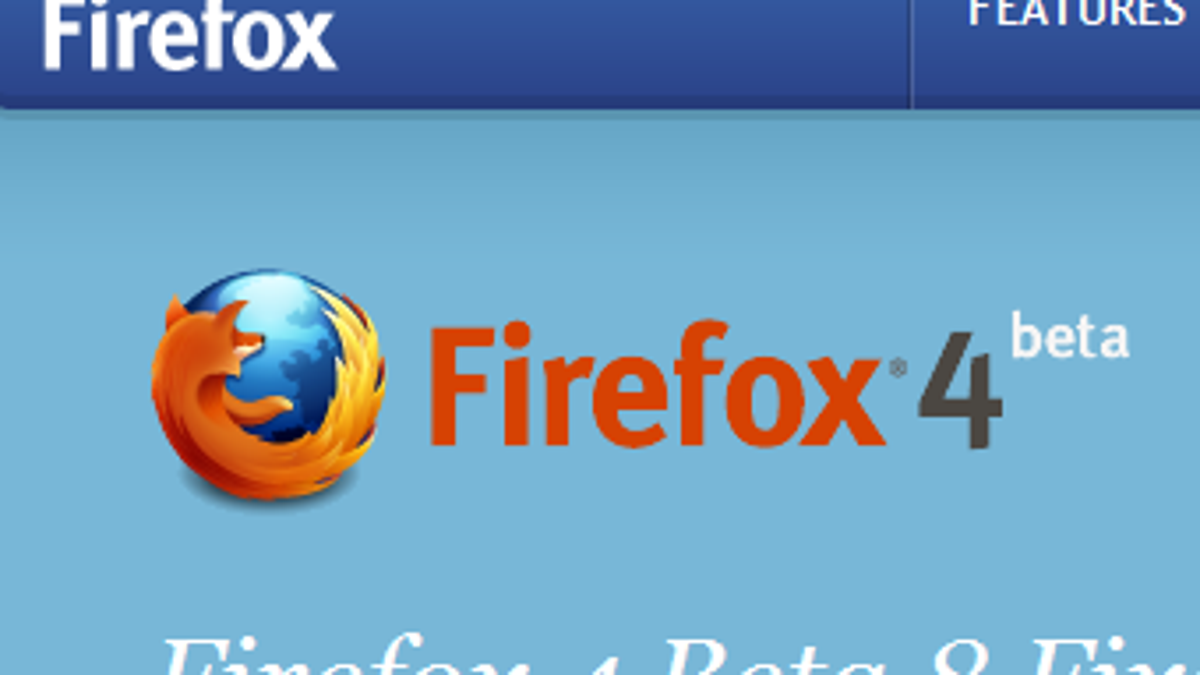 Firefox 4 Beta 8 Available for Download, Improves Syncing Setup