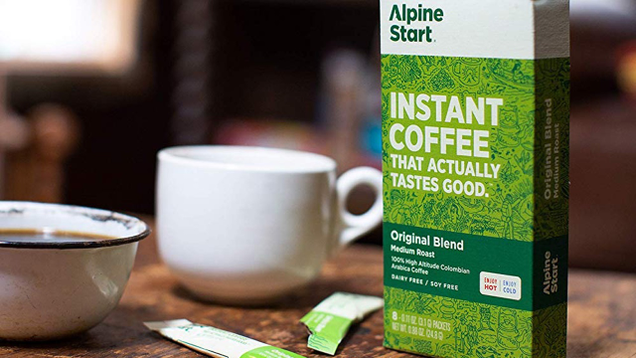 Instant coffee is never going to be the best coffee, but Alpine Start's is actually pretty good, and easy to pack.