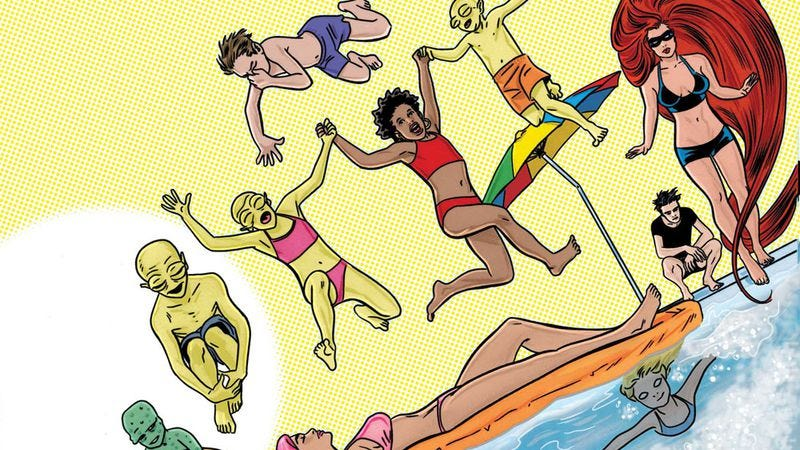Illustration for article titled Matt Fraction and Mike Allred soundtrack a superhuman pool party