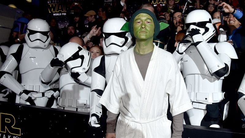 Joseph Gordon-Levitt's Yoda leaves a little to be desired (Photo: Getty Images)