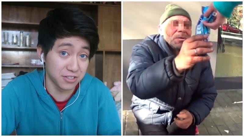 Condenan al youtuber que humilló a un mendigo con galletas rellenas de pasta de dientes