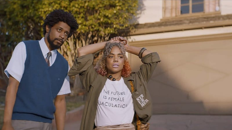 Image via Sundance / Lakeith Stanfield and Tessa Thompson in Sorry to Bother You