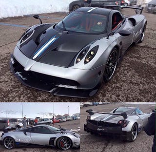 Illustration for article titled New Huayra BC caught without camo