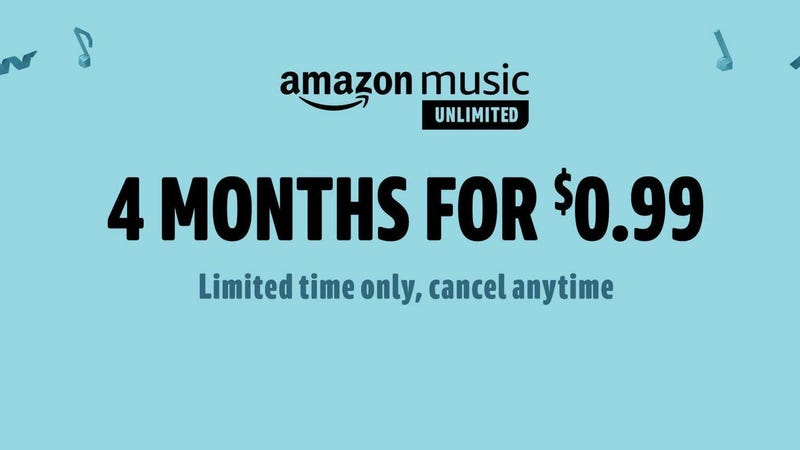 Four Months of Amazon Music Unlimited | $1 | Amazon | New members only