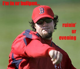 Illustration for article titled ALCS Blogdome: Eric Gagne Is In Ur Bullpen ...