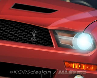 Illustration for article titled 2010 Shelby GT500: Rendered Not-So-Much-Speculatively