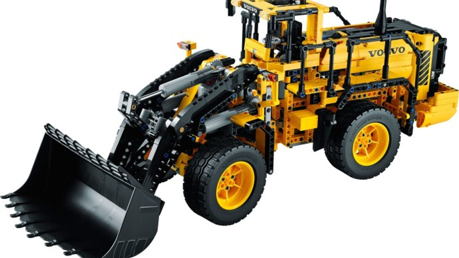 Lego Designer Drives And Then Builds A Giant Volvo L350f Wheel Loader