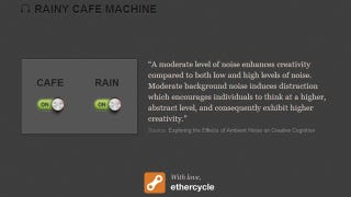 Illustration for article titled Rainy Cafe Machine Plays Ambient Noise to Soothe and Boost Productivity
