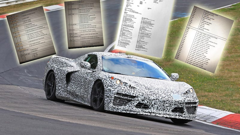2020 Chevrolet Corvette More Details From Apparent Leaked Guide