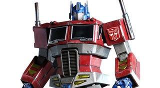 Illustration for article titled Fantastic Optimus Prime Figure Lights Our Darkest Hour