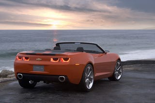 Illustration for article titled Why Not? New PR Shots of the Camaro Convertible Concept