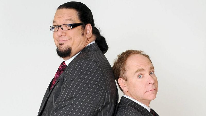 Illustration for article titled Where to start when revisiting the bullshit-strewn career of Penn & Teller