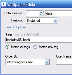 Illustration for article titled Download of the Day:  Flickr Wallpaper Rotator (Windows)