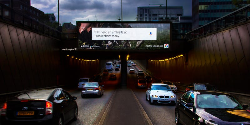 Illustration for article titled Google's Testing Web-Style Responsive Ads on Huge London Billboards