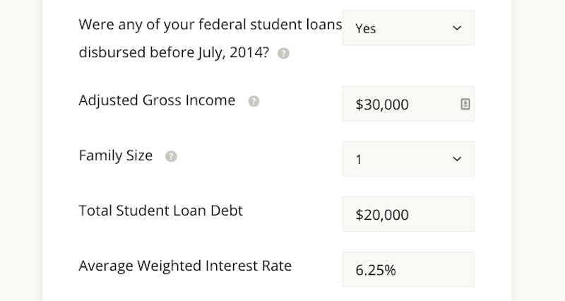 payment calculator for student loans