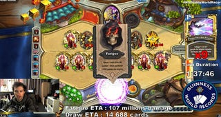 Illustration for article titled Hearthstone Record Chasers Going For Two Massive Records At Once
