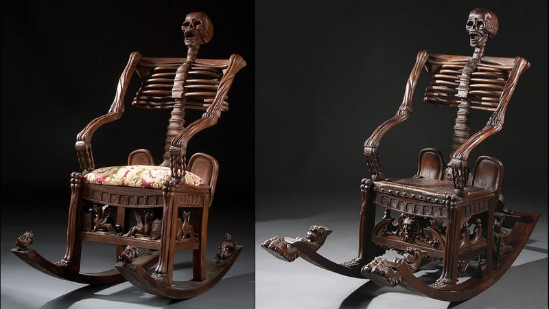 Illustration for article titled These skeleton rocking chairs are the most uninviting ever