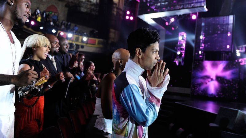 Prince at the 2010 BET Awards. (Photo: Getty Images)