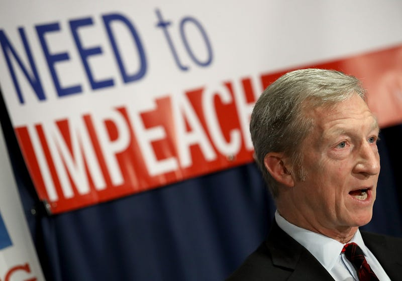Tom Steyer speaks during a press conference at the National Press Club on Dec. 6, 2017, in Washington, D.C. (Win McNamee/Getty Images)