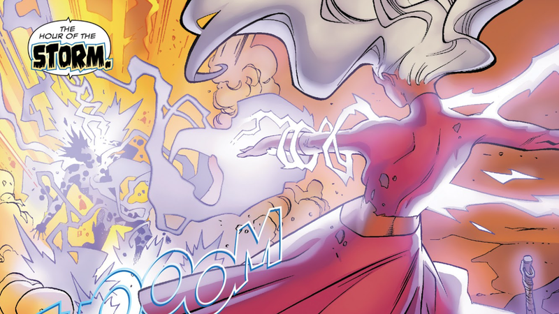 Storm embracing her divinity in Black Panther #172.