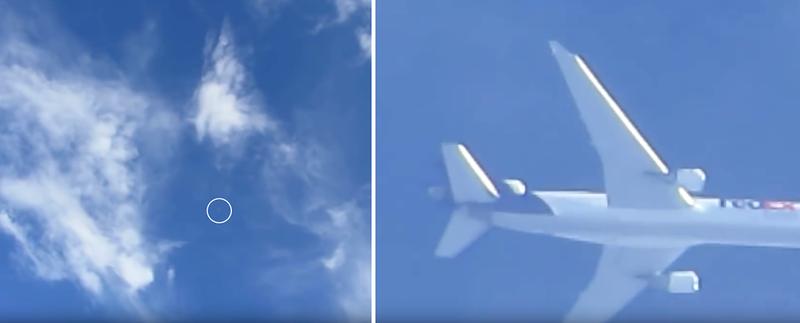 Illustration for article titled Necesitas un zoom 200x para ver los rótulos de un avión en pleno vuelo... desde tierra
