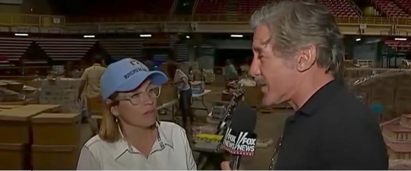 San Juan Mayor Carmen Yulín Cruz and Geraldo Rivera (Fox News screenshot)