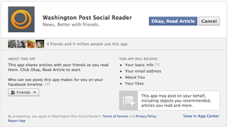 Illustration for article titled No Facebook, I Do Not Want to Add That Open Graph Social App to My Page