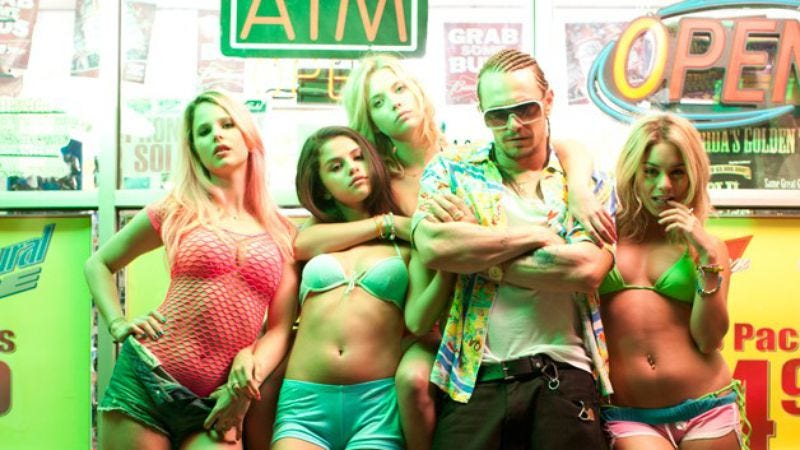 Illustration for article titled Day 2 at TIFF brings the calculated scandal of Harmony Korine's Spring Breakers, a 3D animated Monty Python, and more love for The Master