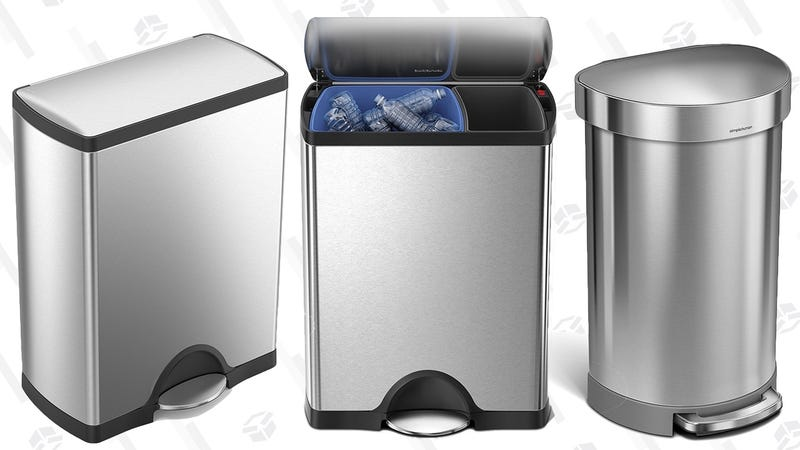 Simplehuman 45L Semi-Round Trash Can | $80 | AmazonSimplehuman 50L Step Trash Can | $137 | AmazonSimplehuman 46L Trash/Recycling Can | $150 | Amazon