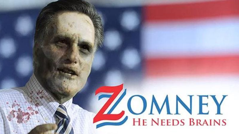 Illustration for article titled Joss Whedon endorses Romney as candidate most likely to cause a zombie apocalypse