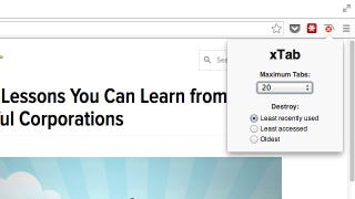 Illustration for article titled XTab Limits the Number of Tabs You Can Keep Open