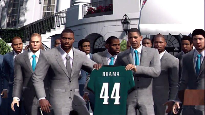 Illustration for article titled President Obama Isn't In Madden's Championship Scene—But He's Still On For NBA 2K13